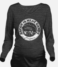 Meat Candy Distresse Long Sleeve Maternity T-Shirt