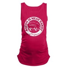 Meat Candy Distressed- White Maternity Tank Top
