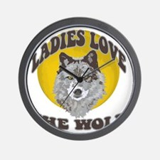 Ladies Love the Wolf Wall Clock