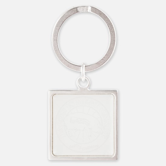 Meat Candy- White Square Keychain