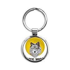 Lone Wolf Round Keychain