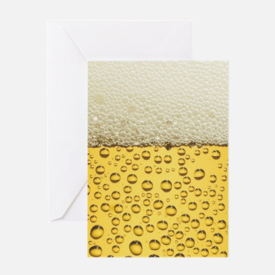 Beer Bubbles Greeting Card