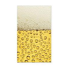 Beer Bubbles Rectangle Car Magnet