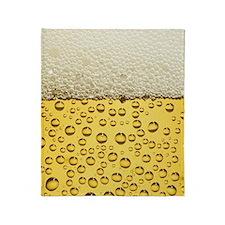 Beer Bubbles Throw Blanket
