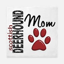 D Scottish Deerhound Mom 2 Queen Duvet