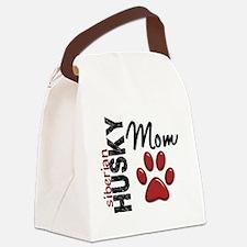 D Siberian Husky Mom 2 Canvas Lunch Bag
