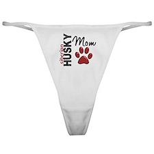 D Siberian Husky Mom 2 Classic Thong