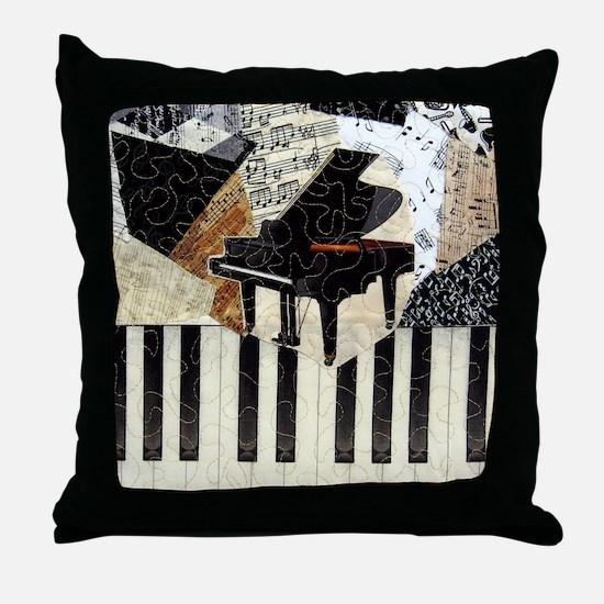 Piano9x8 Throw Pillow