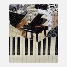 Piano9x8 Throw Blanket