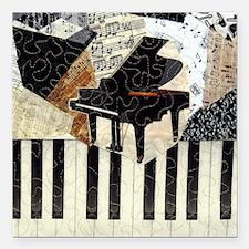 "Piano9x8 Square Car Magnet 3"" x 3"""