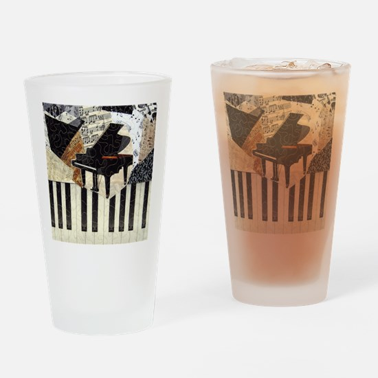 Piano9x8 Drinking Glass