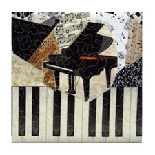 Piano9x8 Tile Coaster