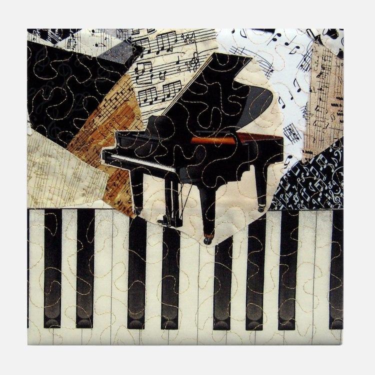 Piano9x8 Tile Coaster