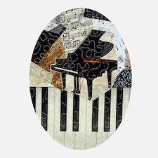 Piano9x7 Oval Ornament