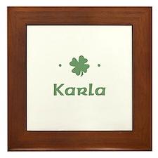 """""""Shamrock - Karla"""" Framed Tile"""