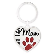 D Shih Tzu Mom 2 Heart Keychain