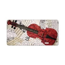 Red-violin-finished-v3 Aluminum License Plate