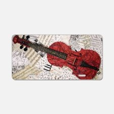 Red-violin-finished-v3 Aluminum License Plate