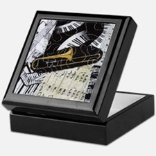 Trombone-ornament Keepsake Box