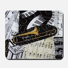 Trombone-ornament Mousepad