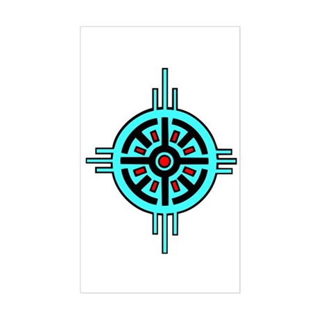 Medicine Wheel Rectangle Sticker