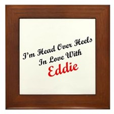 In Love with Eddie Framed Tile