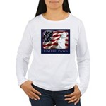 Westie US Flag Patriotic Women Long Sleeve T-Shirt
