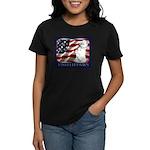 Westie US Flag Patriotic Women's Dark T-Shirt