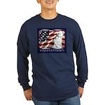 Westie US Flag Patriotic Long Sleeve Dark T-Shirt
