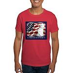 Westie US Flag Patriotic Dark Colored T-Shirt