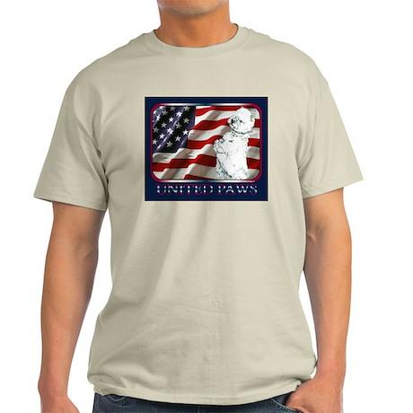 Westie US Flag Patriotic Light T-Shirt