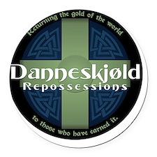 Danneskjold Repossessions Shield Round Car Magnet