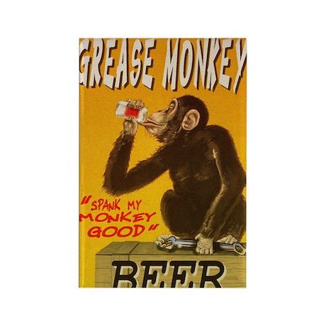 fine art america grease monkey be Rectangle Magnet
