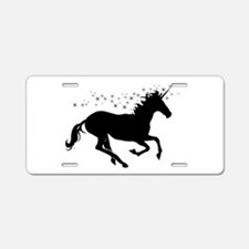 Magical Unicorn Silhouette Aluminum License Plate
