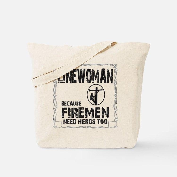 lineman because 3 Tote Bag