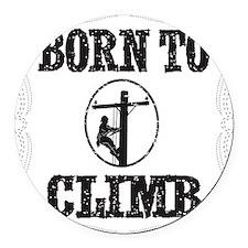 born to climb 1 Round Car Magnet