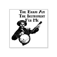 "banjoam Square Sticker 3"" x 3"""