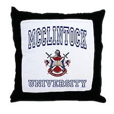 MCCLINTOCK University Throw Pillow