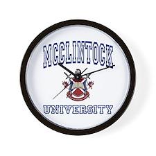 MCCLINTOCK University Wall Clock