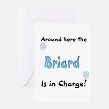 Briard Charge Greeting Cards (Pk of 10)