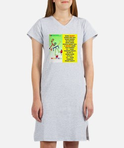 Not a good game-WOOFTELL 2 Women's Nightshirt
