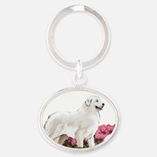 great pyr in  garden Oval Keychain