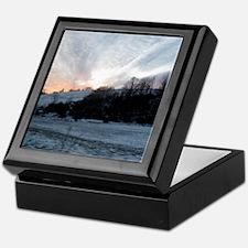 Sunset on Snowy Hills Keepsake Box
