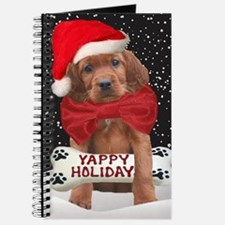 Irish Setter Yappy Holidays christmas card Journal