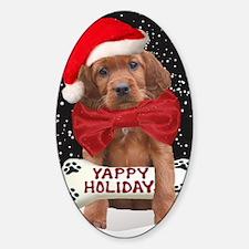 Irish Setter Yappy Holidays christm Sticker (Oval)