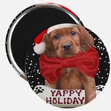 Irish Setter Yappy Holidays christmas cards Magnet