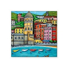 "Vernazza-HSPropicAR Square Sticker 3"" x 3"""