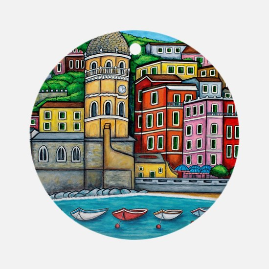 Vernazza-HSPropicAR Round Ornament