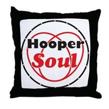 Red Soul Throw Pillow