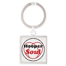 Red Soul Square Keychain